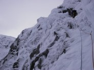 Alex heading up the first pitch of Smith's Route