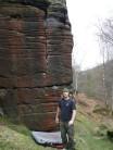 Max below Kestrel Crack, Shipley Glen