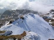 Beinn nan Eachan ridge from the peak