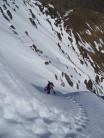 Nearing the top of Central Gully . Ben Lui