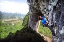 Luke Milnes flashing Pegasus, 6c, Moon Hill, Yangshuo, China