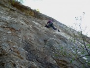 Just missing the on sight of Ruby Slippers hard 7a, more likely 7a+