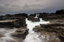 The Gullies at high tide, Godrevy
