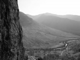 Kev on a VS, Scimitar Buttress, Glen Nevis<br>© Iain Cattanach
