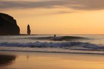 Surfing Sandwood Bay