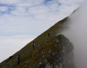 ascent onto southern end of Black Cuillin