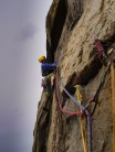 The traverse on Suicide Wall.