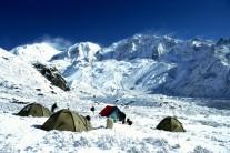 Bik Bari camp, Sikkim Himalaya after snowfall