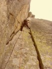 The twin cracks pitch on the NNE ridge of the Aiguille L'M