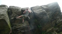 On the first ascent of a superb line..