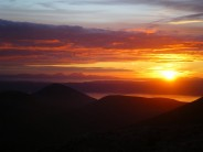 Sunset over Paps of Jura