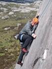 Steve, C Weed E1 5b, Ridgeway View Crag