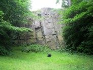 Court Knowe crag in Glasgow