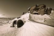 Deep Winter. Stanage Apparent North<br>© Dan Arkle