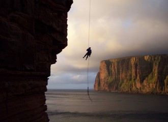 Abseiling off the Old Man