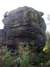 Harobics - Blunt arete up middle of pic.   Crofty is starting the sandy awkward descent.