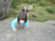 Ella Musgrove (age 4)  Shadow Slab V0- 3b, Robin Hood's Stride
