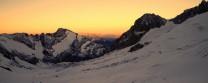 Sunrise on the Glacier de Tre la Tete