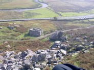 View of the boulders from above the crag