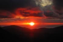 Sunset from Tryfan summit.