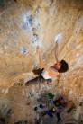 A Czech climber attempts to redpoint Daniboy 8a
