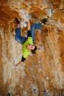 Robbie Phillips climbing Daniboy, 8a