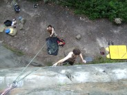 Tim Climbs Unclimbed Wall