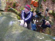 Mike disappointed by the top out holds of the brilliant G Thang, Gardoms South Boulders