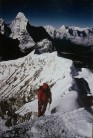 Neville nearing the summit with Ama Dablam in the background.