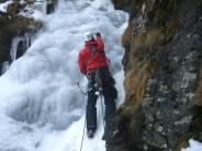 Arrow Chimney IV pitch 3 on Meall nan Tarmachan (Creag an Lochan) for Hughes Mountaineering
