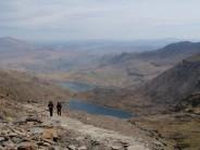 Heading to Snowdon summit with John