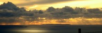 Lundy Island from Y foel, Afan