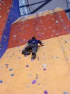 me climbing a 4c on the 16m wall