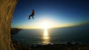 Phil Belcher Swinging off Twangy Pearl<br>© Phil Belcher