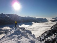 Self-portrait on the Aonach Eagach with Inversion