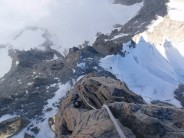 Looking down the SW Face of Dent du Geant