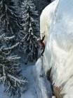 Juha enjoying sunshine and fantastic ice conditions at Muurla