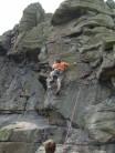 Hand-traverse on Crossover HVS 5a, Trewavas(Cornwall)