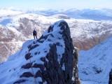 High on Pinnacle Ridge, Garbh Beinn<br>© Captain Solo