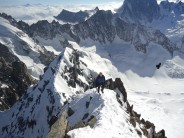 Approaching the summit of Les Courtes