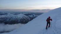 Towards Ben Nevis summit from North East Buttress
