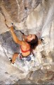 Kat heading into the crux<br>© TC Changed