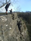 Stuart Connick seconding Paul Watts up Salome, Chudleigh
