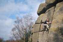 Me on Right-Hand Crack, should have been wary of the VDiff grade given in the 1989 guide!