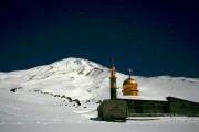 Night photo of the Mosque camp on Mount Damavand, Iran.  -20 degrees Celsius. Moonlit night, 30 second exposure.<br>© ScottMackenzie