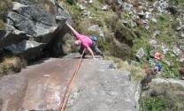 Leech Line Moel y Gest  Climber Clive Heath