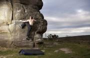 Self portrait - Inaccessible Boulder<br>© Richard Enticknap