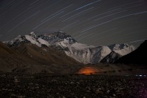 1 hour long exposure, North Face Everest