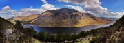 The Coffin Stone, The Buachailles, Ben Starav, Ben Cruachan and Loch Etive from the slabs.<br>© Sean Bell