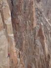 Climbing at Los Arenales, Argentina